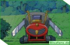 Der durchgedrehte Rasenmäher
