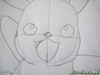 Zeichenkurs Pikachu - Schritt 6