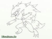 Zeichenkurs Zoroark - Schritt 8