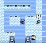 Kämpft nach dem Fliehen gegen diesen Schwimmer, um anschließend Mew anzutreffen.
