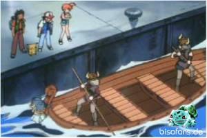 Auch Ash, Misty und Rocko...