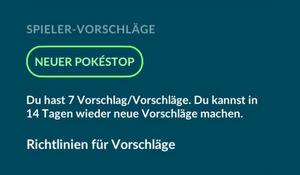 PokéStop vorschlagen