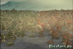 Die Armeen treffen aufeinander...
