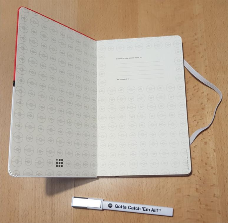 Notizbuch von innen