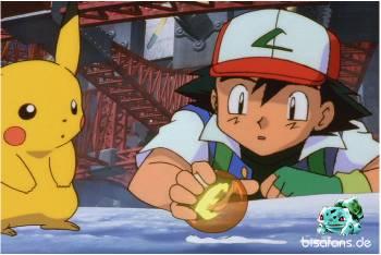 Ash findet die Kugel des Feuers
