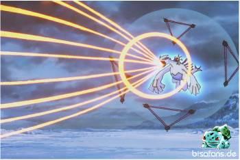 Lugia setzt ihre stärkste Attacke ein...