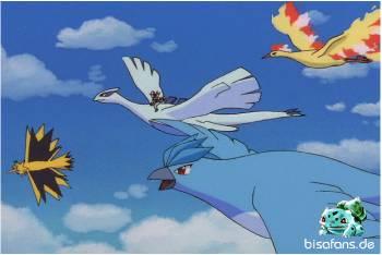 Alle legendären Vögel fliegen mit Lugia zusammen