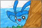 Pokémon am Wasserfall
