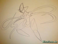 Zeichenkurs Deoxys (Angriffsform) - Schritt 4