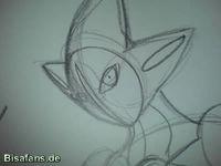 Zeichenkurs Deoxys (Angriffsform) - Schritt 7