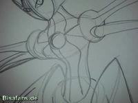 Zeichenkurs Deoxys (Angriffsform) - Schritt 8