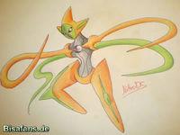 Zeichenkurs Deoxys (Angriffsform) - Schritt 12