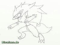 Zeichenkurs Zoroark - Schritt 7