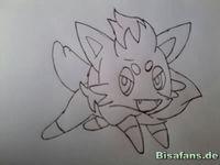 Zeichenkurs Zorua - Schritt 4