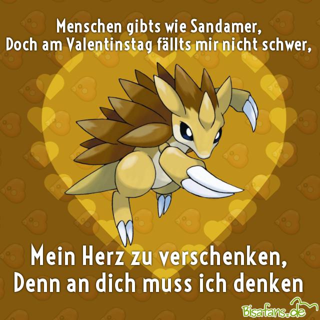 Pokémon-Valentinstagskarte