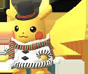 Pikachu mit Kostüm