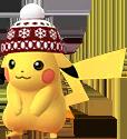 Pikachu mit Wintermütze