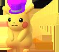 Pikachu mit Zylinderhut