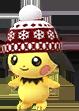Pichu mit Wintermütze