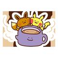 Evoli und Pikachu mit Ditto-Teetasse