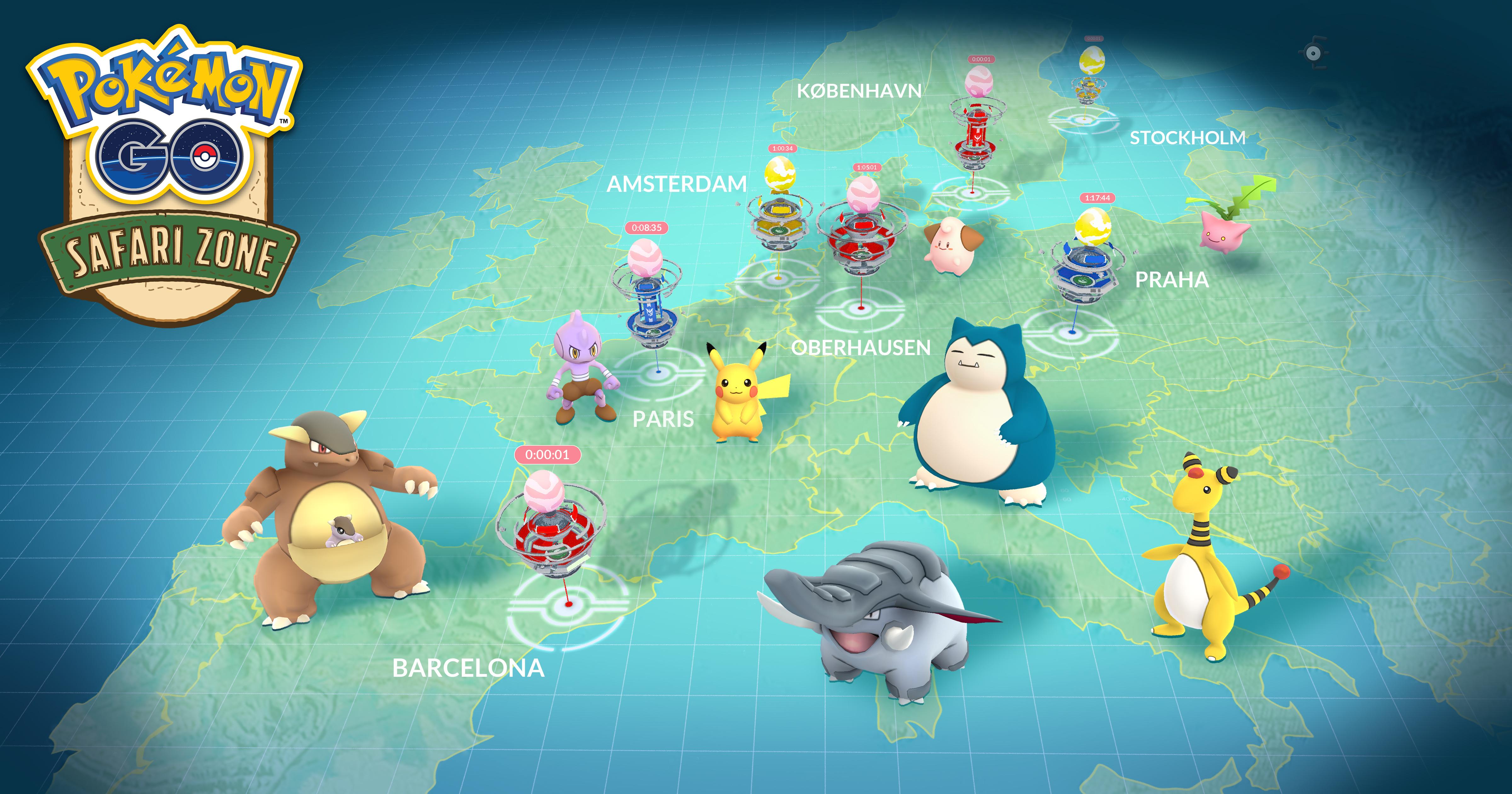 Seltene Pokémon in europäischen Städten