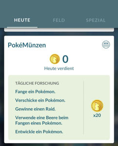 Pokemon GO Tägliche Forschung