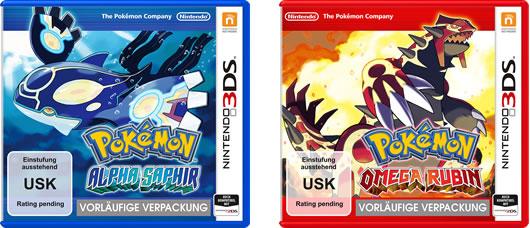 Pokémon Omega Rubin und Pokémon Alpha Saphir
