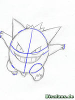 Zeichenkurs Gengar - Schritt 10