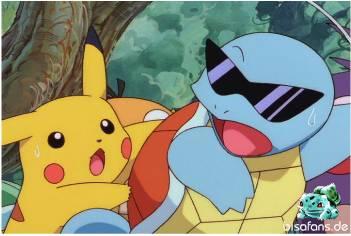 Pikachu bremst Schiggy