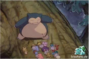 Relaxo schützt die Pokémon