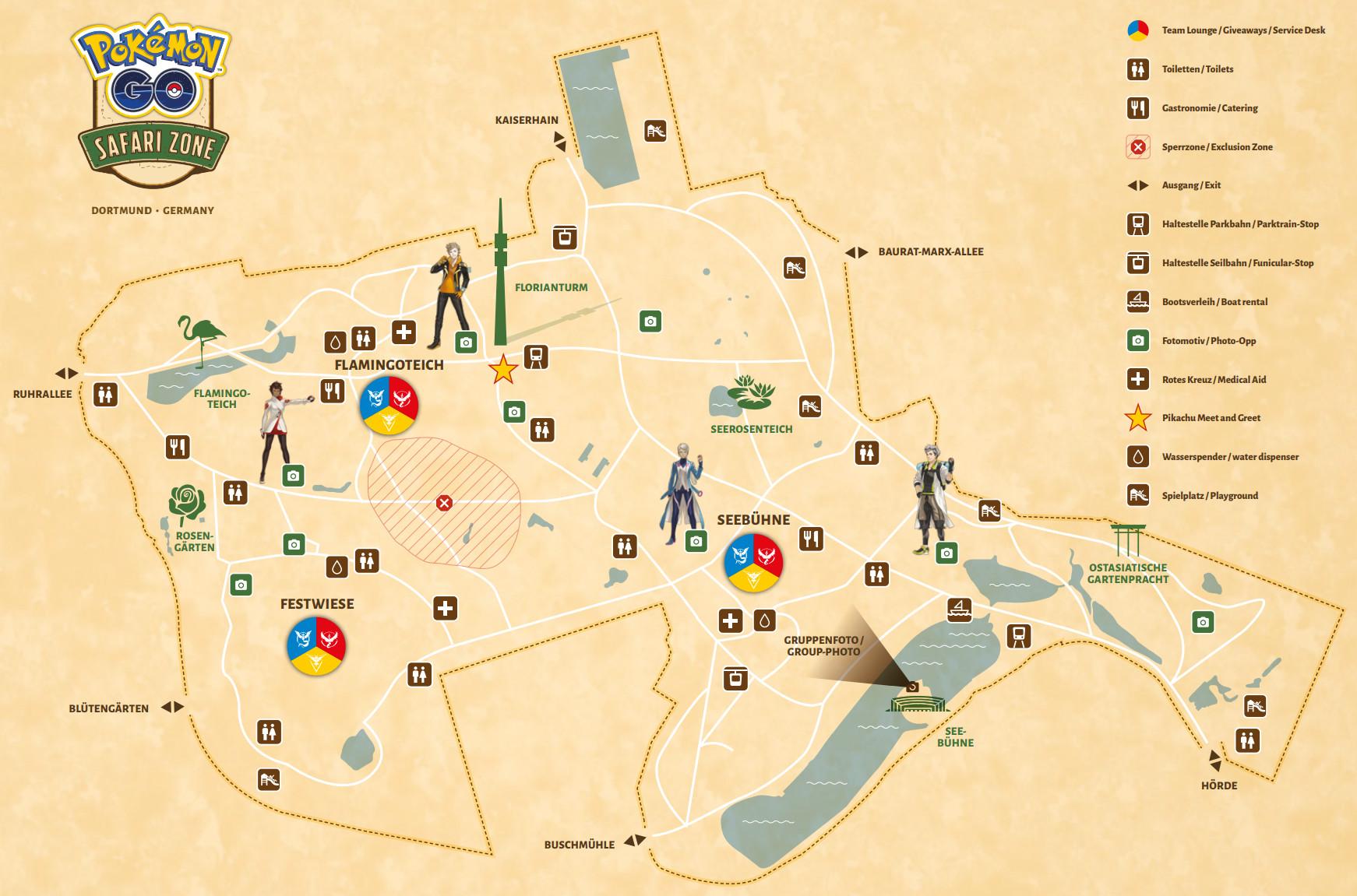 Karte des Westfalenparks