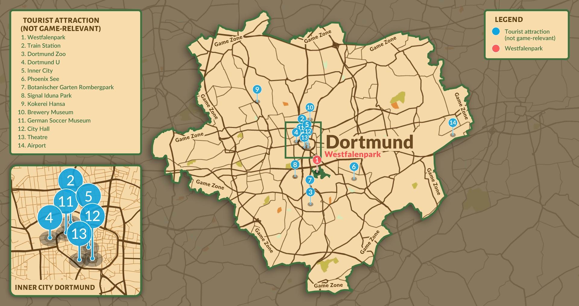 Karte von Dortmund