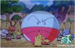Pikachu will das Rennen starten