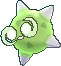 Grünes Meteno in Kernform